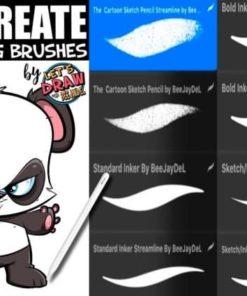 cartooning brush set for procreatecartooning brush set for procreate ( ) brushespack