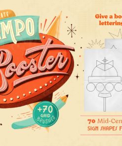 compobooster procreate retro brushes download now brushespack
