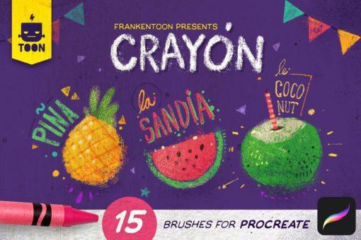 crayon procreate brush pack brushespack