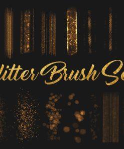 foil glitter procreate brushes brushespack