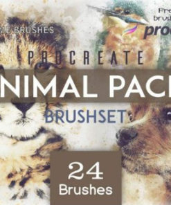 procreate animal pack brushespack
