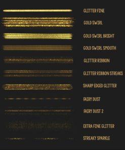 procreate glitter brush set ( ) brushespack