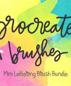 procreate lettering brush bundle brushespack