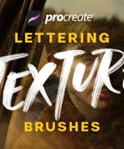 procreate lettering texture brushes ( ) brushespack