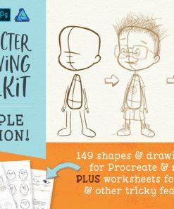 procreate people drawing toolkit ( ) brushespack