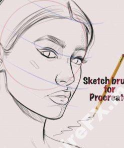 sketching brushes for procreate brushespack
