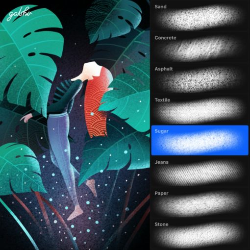 texture brushes by gal shir for procreate ( ) brushespack