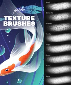 texture brushes by gal shir for procreate brushespack